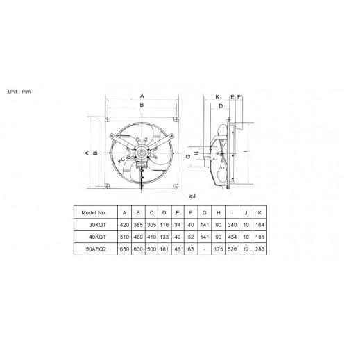 Kdk Industrial Ventilation Fan
